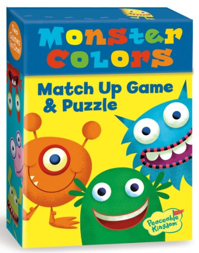 Peaceable Kingdom / Monster Colors 2-In-1 Match Up Memory Game & Floor Puzzle front-668882