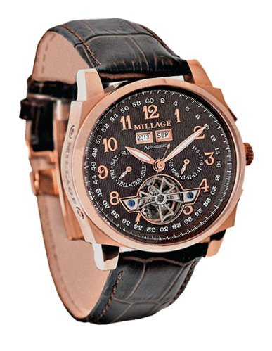 Millage Tourbillion Collection RG Gold On Brown On Brown