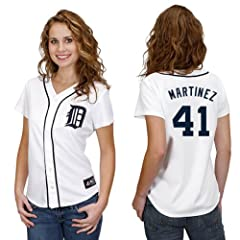 Victor Martinez Detroit Tigers Home Ladies Replica Jersey by Majestic by Majestic