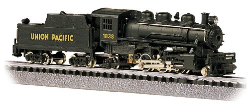 Bachmann Industries #1838 Prairie 2-6-2 Locomotive And Tender U.P. Train Car, N Scale front-496659
