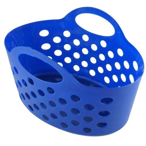 Panier à linge en plastique flexible-Résistant aux intempéries et coupe-vent-pratique panier à pinces à linge avec poignée de transport