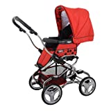 Bebecar Stylo Pushchair Chrome Chassis (Poppy)