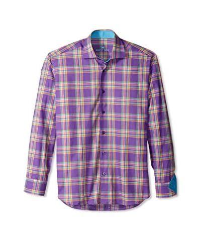 Bertigo Men's Anel Multicolor Plaid Long Sleeve