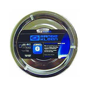 "RANGE KLEEN RGP-300 Chrome Range Round Pan/Orange Label (8.26"")"