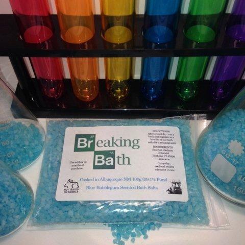 Breaking Bath 100g Scented Bath Salts - 4 Scents - Breaking Bad (Bubblegum)