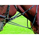 Shires Equestrian - Benheim Market Harborough Martingale - Black - Size: Cob