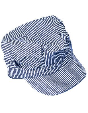 Blue & White Engineer Train Driver Hat Costume Uniform