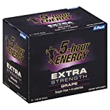 5 Hour Energy Energy Shot, Extra Strength, Grape, 6 - 1.93 oz (57 ml) bottle