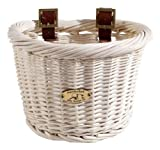 Nantucket Bike Basket CompanyCruiser Collection Bicycle Basket (White, 14.5 X 10.5 X 9.5)
