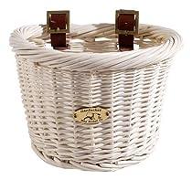 Nantucket Bike Basket Company Cruiser Collection Bicycle Basket (White, 14.5 X 10.5 X 9.5)
