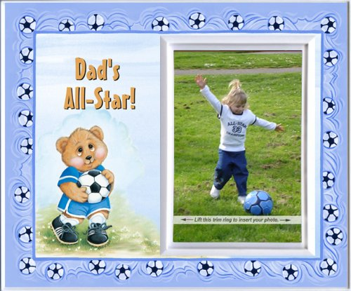 Dad's All-Star! - (soccer) Picture Frame Gift - 1
