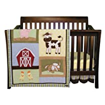 Baby Barnyard Animals Crib Bedding Set