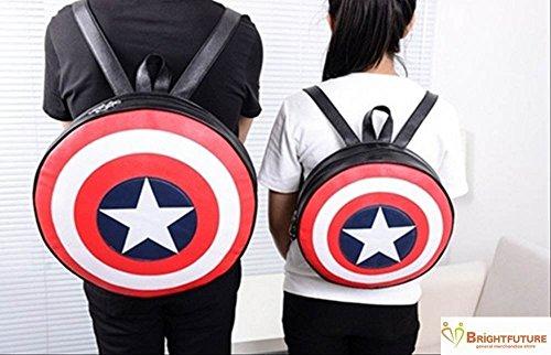 (QQQINGLU) 男女兼用 キャプテン·アメリカ 盾 鞄  カップル ペアルック お揃い ペア バッグ 大小 サイズ  ZON-ZW-6 (大)