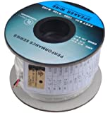 C&E 100 Feet 16AWG CL2 Rated 2-Conductor Loud Speaker Cable (For In-Wall Installation)