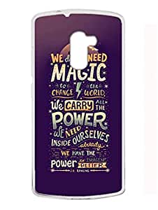 Madanyu Harry Potter Quote - 2D Glossy Back Case Cover For Lenovo K4 Note - Transparent Sides