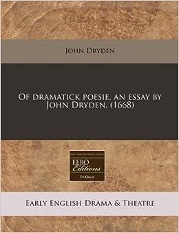 essay about john dryden