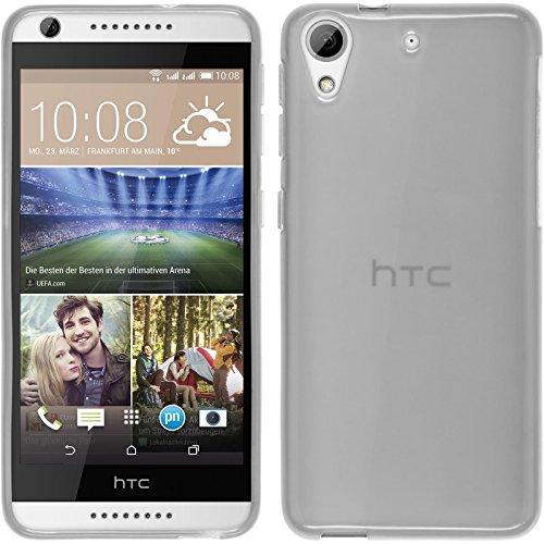 PhoneNatic HTC Desire 626 Hülle Silikon weiß transparent Case Desire 626 Tasche Case