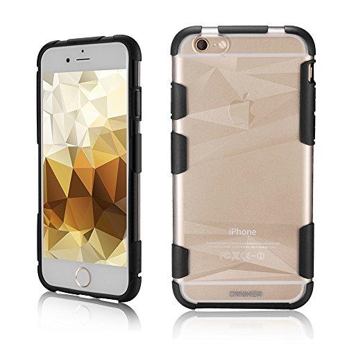 Omaker iPhone6 TPUソフトスマホケース 4.7インチ(ブラック)