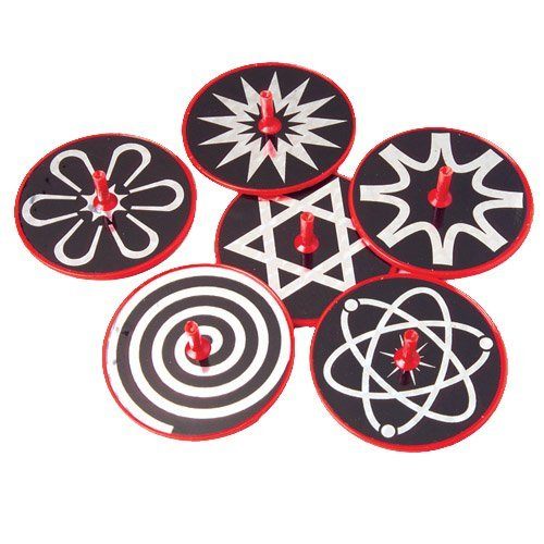 US Toy Hypnotic Lazer Tops Assorted Patterns Toy (1 Dozen)