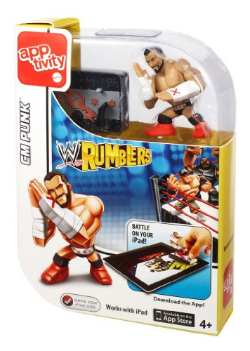 WWE Rumblers Apptivity Cm Punk Figure