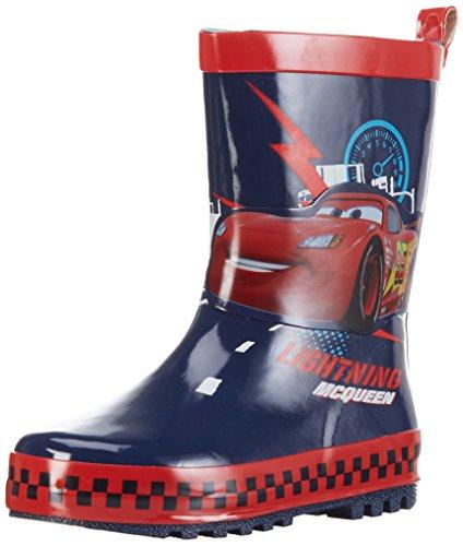 Cars-Jungen-Boys-Kids-Rainboots-Boots-Kurzschaft-Gummistiefel-Blau-NavyHRed-597-22-EU