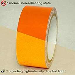 JVCC REF-7 Engineering Grade Reflective Tape: 2 in. x 30 ft. (Orange)