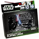 Star Wars Weapons & Battles Illustrated Double Deck Playing Cards in Tin with 5 Bonus Dice