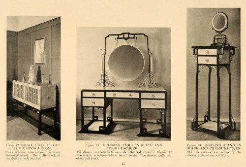 1918 Ad Linen Closet Dressing Table Shaving Stand Decor - Original Print Ad