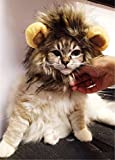 "Lumen Pet Costume Lion Mane Wig for Dog Cat Halloween Dress up with Ears (for neck girth 10.24""-11.8)"