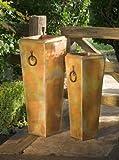 H Potter Patio Deck Garden Flower Planter - Set of Two