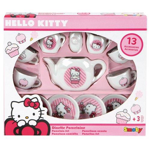 Smoby 24784 - Giocattolo Hello Kitty, Servizio da tè in porcellana