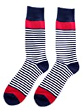 Fine Fit Fancy Colorful Mens Colorful Stripe Dress Socks - 1 PAIR - SD008