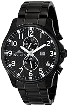 buy Invicta Men'S 0383 Ii Collection Black Ion-Plated Stainless Steel Watch