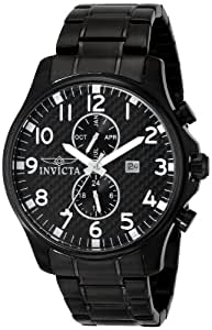 Invicta Men's 0383 II Collection Black Ion-Plated Stainless Steel Watch