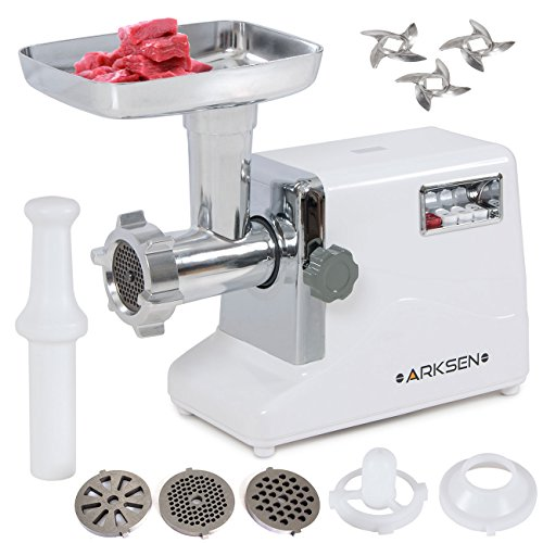 Purchase ARKSEN© 3000W Electric Meat Grinder, 3-Speed, 3 Grinder, Kubbe & Sausage Stuffing Tubes, #...
