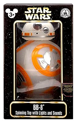 Star Wars Force Awakens BB-8 Droid Spinning Top With Lights & Sounds Figure Disney Parks Authentic Original by Disney