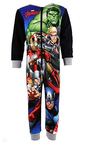 Ragazzi Ufficiale Marvel Avengers Pigiama in pile pigiama misure 2, 3, 4, 5, 6, 7, 8anni caldo Hulk, Iron Man, Capitan America, Thor Black 3-4 Anni
