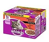 Whiskas 1+ Katzenfutter Fleischauswahl in Sauce