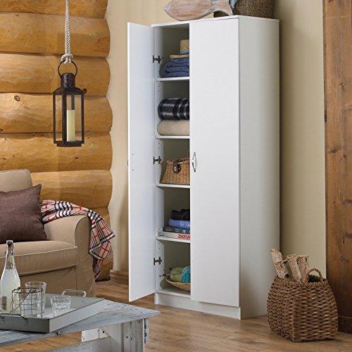 akadaHOME akadaHOME 72 in. Storage Cabinet -, White, Wooden