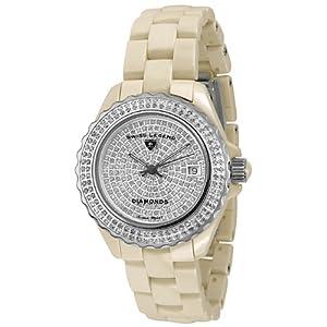 Swiss Legend Women's 20052-BGWFS Karamica Diamonds Collection Ceramic Watch