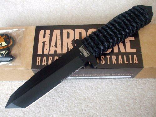 Hardcore Hardware Australia Mfk02 Tactical Survival Knife Black Para-Cord