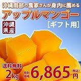 沖縄南部の農家さんが身内に薦めるアップルマンゴー(ギフト用) 2kg ランキングお取り寄せ