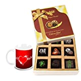 Great Affection Dark Choco Treat With Love Mug - Chocholik Luxury Chocolates