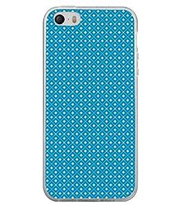 Fuson Premium Blue Diamonds Metal Printed with Hard Plastic Back Case Cover for Apple iPhone 5