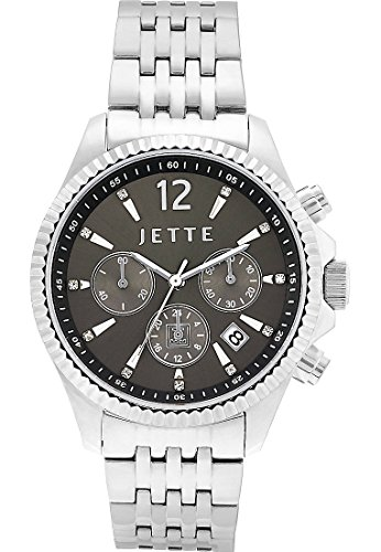 JETTE-Time-Damen-Armbanduhr-Glorious-Analog-Quarz-One-Size-grau-silberanthrazitgrau