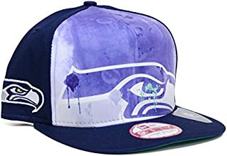 Seattle Seahawks Watercolor Print Snapback Adjustable Hat