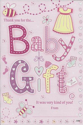 "Baby Girl Geschenken, Grußkarten, Aufschrift ""Thank You For The Baby Girl"")"