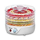 Excelvan 5 Tier 240W Electric Food Fruit Dehydrator, Food Preserver Airflow Circulation with Adjustable Temperature Control Natural Healthy