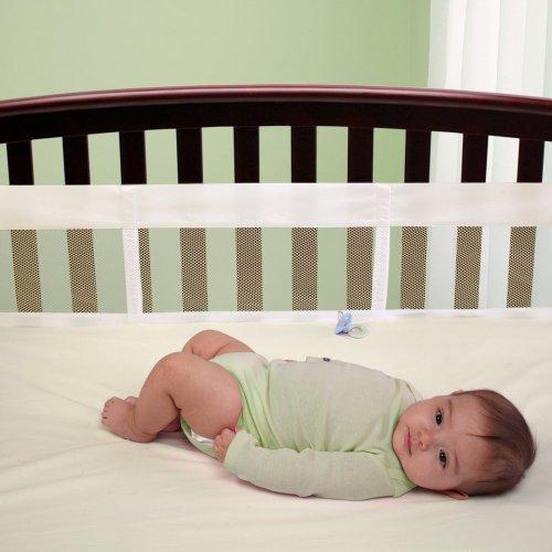 NoJo Secure-Me Soild Mesh Crib Liner - 1