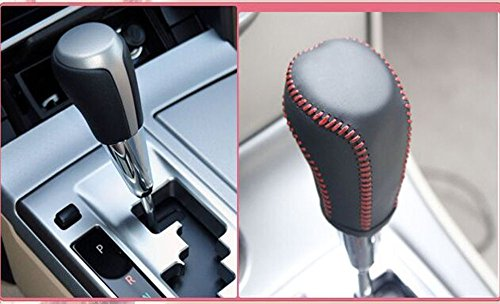 Generic Black+Red Thread Leather Gear Shift Knob Cover For Toyota RAV4 2013-2016/Toyota Camry 2012-2016/Toyota Corolla 2014-2016 Automatic (Gear Shift Knob Cover Toyota compare prices)
